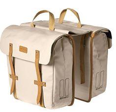 9ce1e7012d Basil Portland Slimfit Double Bag Cream Bicycle Panniers