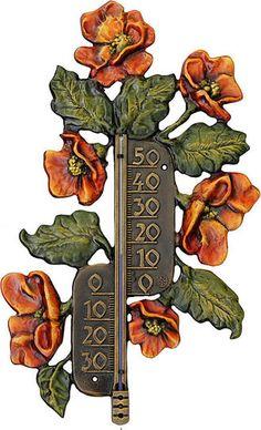 Thermometer Mohnblumen