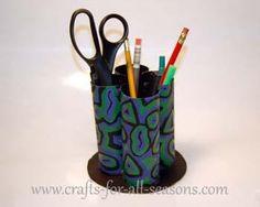 DIY Tutorial: DIY Kids Crafts / DIY Pencil Cup Holder - Bead&Cord