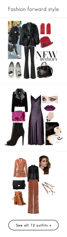 """Fashion forward style"" by aura-iordan ❤ liked on Polyvore featuring rag & bone, Chiara Ferragni, Balmain, Givenchy, Furla, Overland Sheepskin Co., modern, vintage, E L L E R Y and River Island"