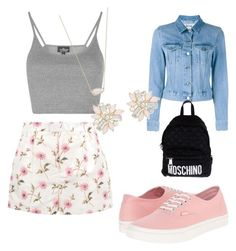 """""""Untitled #252"""" by miss22salvatore on Polyvore featuring RED Valentino, Topshop, Kendra Scott, Acne Studios, Vans, Cara and Moschino"""