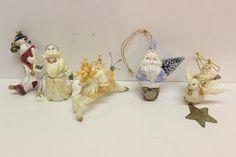 Lot of 5 House of Hatten D Calla Christmas Ornaments Santa Dove Reindeer | eBay