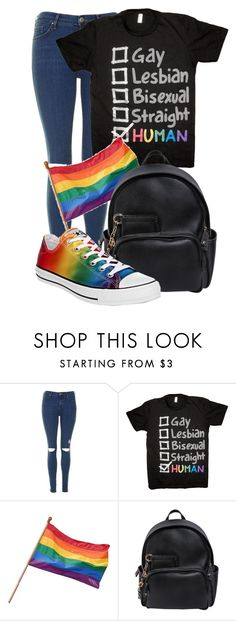 """ORLANDO STRONG "" by ginger-coloured ❤ liked on Polyvore featuring Topshop, ELSE, Dsquared2, Converse, prayfororlando and orlandostrong"