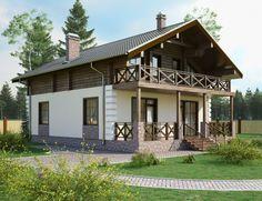Проекты двухэтажных домов