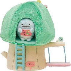 San-X Sumikko Gurashi Plush Dolls House of trees lizard tapioca Kawaii F/S NEW #NA