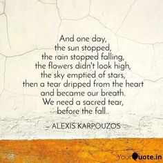 alexis karpouzos poetry Before The Fall, Poetry, Words, Quotes, Black, Quotations, Black People, Poetry Books, Quote