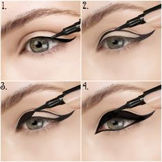 This eyeliner lets you create the perfect cat eye. It's a simple solution for your eyeliner needs.