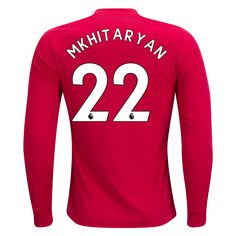 4360f69a2 17 18 Manchester United  22 MKhitaryan Long Sleeve Home Jersey adidas Manchester  United