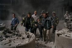 """September """"So many firefighters died that day. I think this picture recognizes their loss, and honors it. Their sacrifice was monumental. It will forever be remembered."""" -James Nachtwey, the greatest war photographer of our time. James Nachtwey, 11 September 2001, Remembering September 11th, Steve Mccurry, Lee Miller, Robert Doisneau, American Revolutionary War, American Civil War, Robert Capa"""