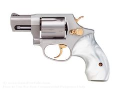 """Taurus 85 Ultra-Lite Snubnose Revolver - 38 Spl +P - 2"""" Barrel - Stainless Steel with Pearl Grips - 5 Round Capacity - Fixed Sights"""