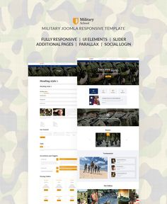 Military School Responsive Joomla Template #64728