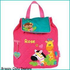 Personalized Stephen Joseph Zoo Girl  Backpack