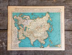 Vintage 1930's Map of Asia and Eastern Europe by pippamarxstudio, $14.00