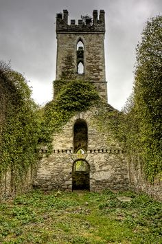 Ruins of 'Old' Castlemacadam Church outside Avoca, Ireland By Andrea Mucelli