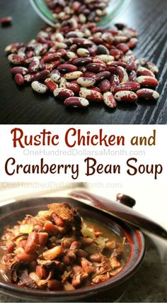 Have you ever used cranberry beans in a recipe? I know they aren't all that common, but man oh man let me tell you they make a mighty fine soup. They have a rich chestnut flavor that I love. I gifted Borlotti Beans Recipe, Dry Beans Recipe, Beans In Crockpot, Crock Pot Soup, Slow Cooker Soup, Slow Cooker Recipes, Crockpot Recipes, Candy Recipes, Yummy Recipes