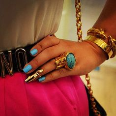 Moschino belt and YSL ring.
