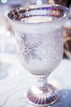 Drink from a goblet made for an ice queen at a Frozen inspired wedding reception