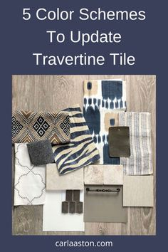 5 Color Schemes That Work With Travertine Tile To Update Their Look Decorating Your Home, Interior Decorating, Travertine Tile, Done With You, Types Of Flooring, Interior Design Tips, Design Ideas, Bathroom Inspiration, Bathroom Ideas