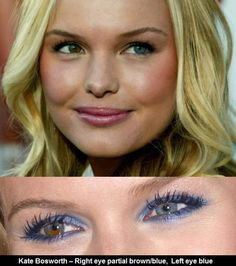 Kate Bosworth Two Different Colored Eyes -Know how to receive free Kate Bosworth, Heterochromia Eyes, Two Different Colored Eyes, Beauty Crush, Old Hollywood Style, Blue Crush, Bright Eyes, Fair Skin, Hair Makeup