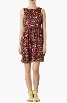Topshop Leopard Print Skater Dress available at #Nordstrom