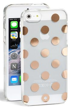 LOVE this kate spade clear iPhone 5 case with gold dots - #Nsale http://rstyle.me/n/mjc3znyg6
