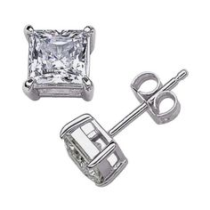 ‼️CLEARANCE‼️925 Sterling Silver Crystal A+  CZ A+ quality cubic zirconia gemstones adorn these stylish solitaire earrings. This jewelry is crafted of platinum overlay sterling silver in a polished finish prevent the silver from tarnishing and give the look of platinum•                                                                                                           •Solid 925 Sterling silver ❌NOT PLATED OR FILLED❌ •Excellent Quality• BRAND NEW• 🔴I PRICES MY ITEMS REALLY LOW🔴 NO…