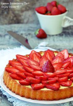 Strawberry Lemon Tart Lidl, Gem, Diy And Crafts, Strawberry, Sweets, Cookies, Baking, Fruit, Desserts