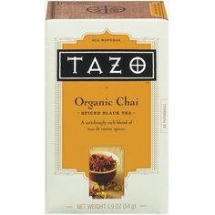 Tazo All Natural Organic Chai Spiced Black Tea Bags 20-ct. found on Polyvore