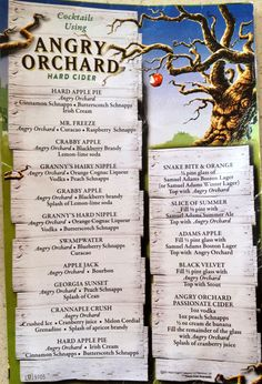 angry orchard cocktails. THIS IS AWESOMEEEEE! Dessert Drinks, Bar Drinks, Cocktail Drinks, Yummy Drinks, Alcoholic Drinks For Fall, Drinks With Fireball, Fireball Recipes, Desserts, Drink Recipes
