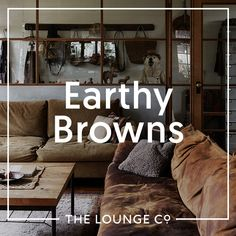 Interior Inspiration - Earthy Browns | Brown is earthy and rich, yet calming and neutral. Choose from dark, chocolately shades or lighter caramels and coffees to decorate your lounge. Brown leather is timeless and stylish, whilst brown velvet and linen are decadent and inviting... #theloungeco #trend #brown #earthy #tonal #sofa #chair #leather #velvet #fabric #interiorinspiration #lounge #rustic #stylish Leather Sofa, Brown Leather, Traditional Sofa, Caramels, Comfortable Sofa, Sofa Chair, Calming, Earthy, Interior Inspiration