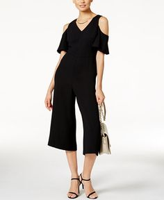 74.99$  Watch here - http://vityl.justgood.pw/vig/item.php?t=gff8fzy28314 - PRIMA Cropped Cold-Shoulder Jumpsuit, Only at Macy's