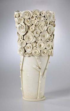 Idea- Glass beads, ornamental objects, tack fuse. This is ceramic by Josie Jurczenia |