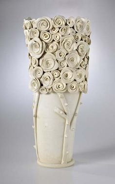 Idea- Glass beads, ornamental objects, tack fuse.  This is ceramic by Josie Jurczenia  