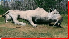 Across Canada, there are hundreds of interesting roadside attractions. This site is dedicated to cataloging our nation's large roadside attractions. Cross Canada Road Trip, Roadside Attractions, Travel List, Canada Travel, British Columbia, Statues, Tooth, Lion Sculpture, Coast