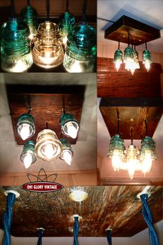 Glass Insulator Projects | ... repurposed glass insulators and a piece of recycled exotic hardwood