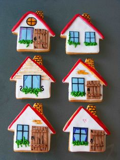 House shaped cookies by bubolinkata, via Flickr
