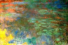 Claude Monet. Water Lily Pond, Evening (Right Panel): 1920-1926 by Claude Monet (Kunsthaus Zürich, Switzerland) - Impressionism
