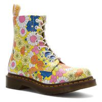 $94 Dr. Martens Women's 1460 Pascal Yellow Daisy Floral Boots US 7 8 Retail $150!
