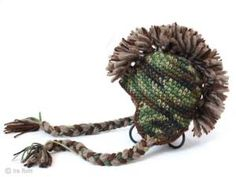 Crochet hat: camo/mohawk by Donna Lytle