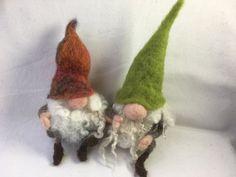 Gnome, Tomte Kit makes 2 Needle Felting Kits, Needle Felted Animals, Felt Animals, Wool Felting, Felt Fairy, Penny Rugs, Felt Dolls, Fabric Art, Felt Crafts