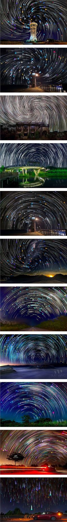 http://www.techeblog.com/index.php/tech-gadget/the-star-filled-night-sky-becomes-a-magical-sight-when-combined-with-this-camera-technique - http://www.trickphotographyandspecialeffects.us/star-trail-photography-tricks