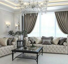 Enhance Your Senses With Luxury Home Decor Glam Living Room, Elegant Living Room, Formal Living Rooms, Home And Living, Living Room Decor, Home Curtains, Luxury Home Decor, Home Decor Inspiration, Design Inspiration