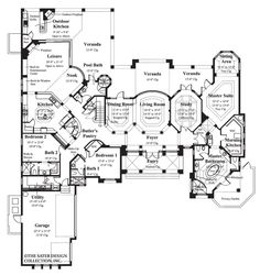 "Italian Style Villa ""Ristano"" Home -- Plan #6939 ... 1st story"