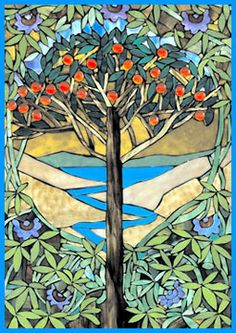 """Tree of Life"" - Stained Glass Mosaic - www.donspencerartglass.com"