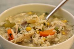 Recipe For Fiesta Chicken Soup - Combine rice and 1 cup water in a small saucepan. Bring to a boil, then reduce heat, cover and simmer 20 minutes, until rice is tender. Coat a large saucepan with cooking spray and place over medium heat. Cook chicken, bell pepper, onion, chili powder and …