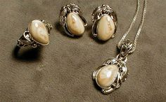Elk Ivory Jewelry by: Cowboy Pendant Earrings, Ring Earrings, Pearl Earrings, Coral Jewelry, Unique Jewelry, Elk Ivory, Adam And Eve, Bling, Gemstones