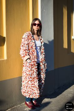eclectic coat with casual outfit