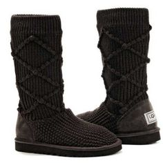 Ugg Boots Classic Argyle Knit Chocolate thumbnail