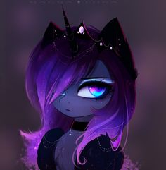 Dark Selena by MagnaLuna on DeviantArt My Little Pony Characters, My Little Pony Comic, My Little Pony Pictures, Mlp My Little Pony, Anime Girl Drawings, Anime Art Girl, Cute Drawings, Anime Lobo, My Little Pony Wallpaper
