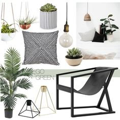 Go green by sofiehoff on Polyvore featuring interior, interiors, interior…